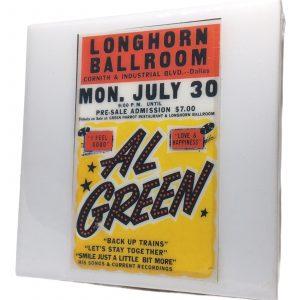 Al Green Concert Coaster