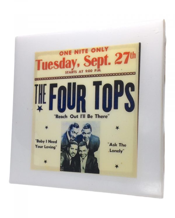 The Four Tops Concert Coaster